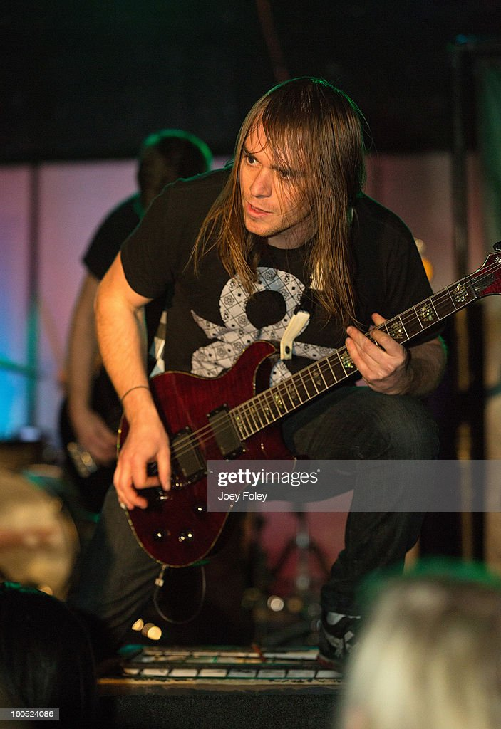 Guitarist Brett Wondrak of Affiance performs at The Emerson Theater on February 1, 2013 in Indianapolis, Indiana.