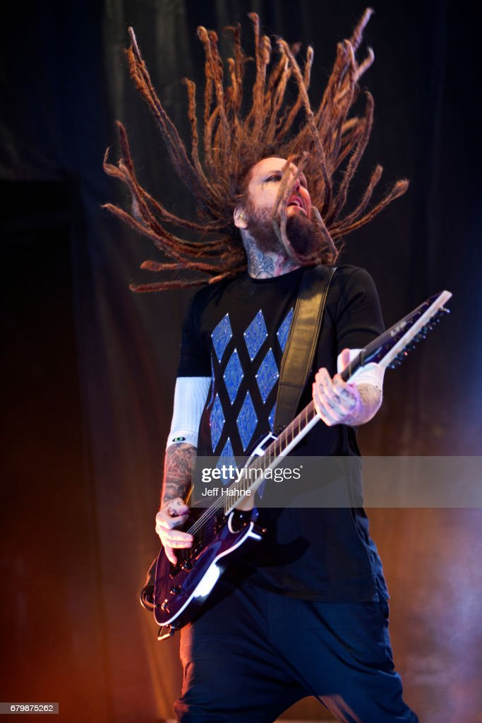 Guitarist Brian 'Head' Welch of Korn performs during Carolina Rebellion at Charlotte Motor Speedway on May 6, 2017 in Charlotte, North Carolina.