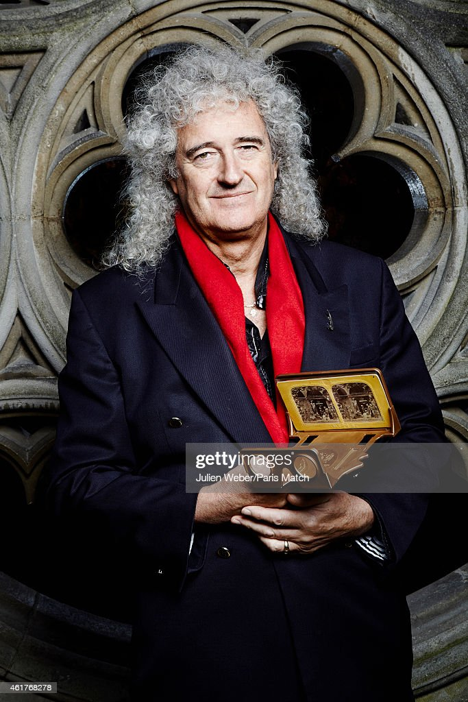 Guitarist Brian May is photographed for Paris Match on November 24, 2104 in Paris, France.