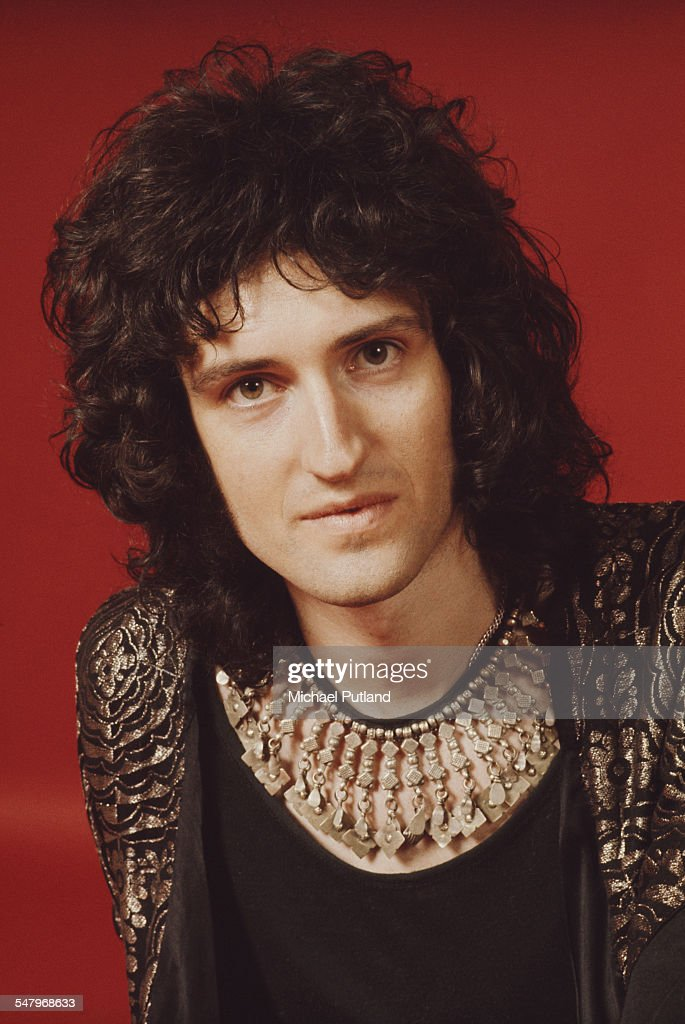 Guitarist Brian May of British rock band Queen, London, 1973. (Photo by Michael Putland/Getty Images