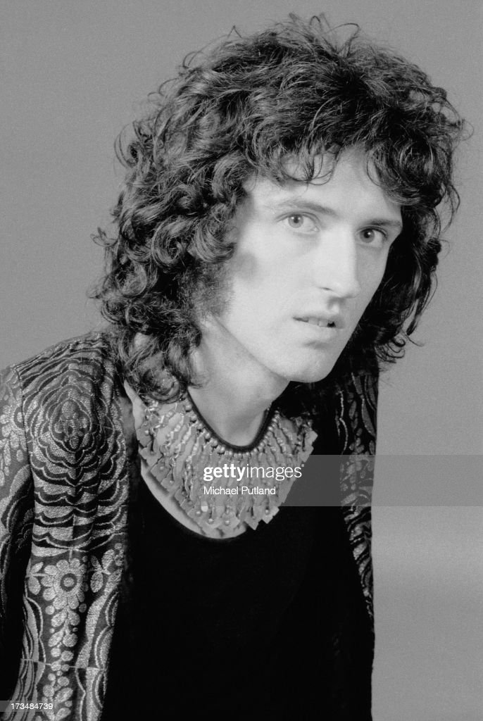 Guitarist Brian May, of British rock band Queen, London, 1973.