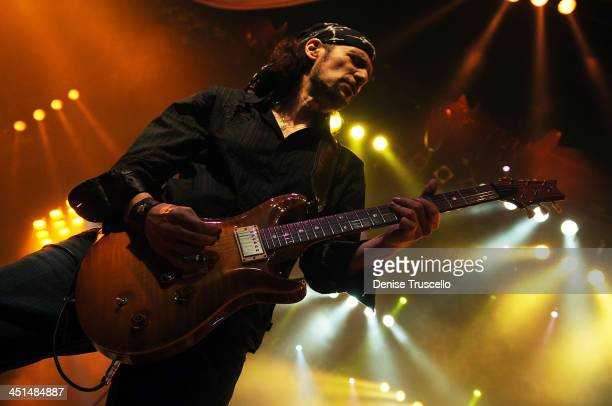 Guitarist Bruce Kulick performs with Monster Circus at the Las Vegas Hilton on March 26 2009 in Las Vegas Nevada