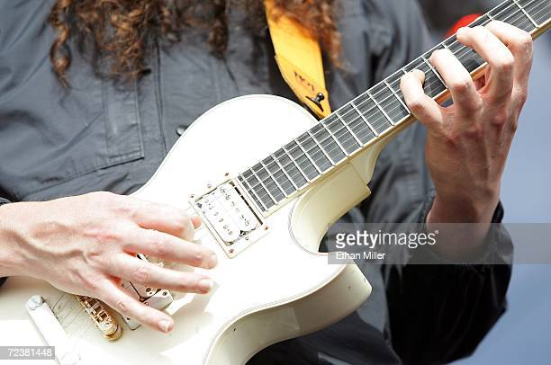 Guitarist Buckethead performs with the band Praxis at the Vegoose music festival at Sam Boyd Stadium's Star Nursery Field October 28 2006 in Las...