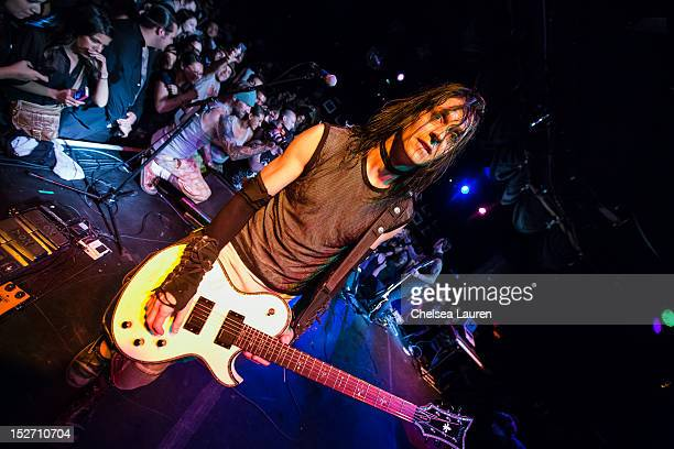 Guitarist Carlton Bost of Orgy performs at The Roxy Theatre on September 23 2012 in West Hollywood California