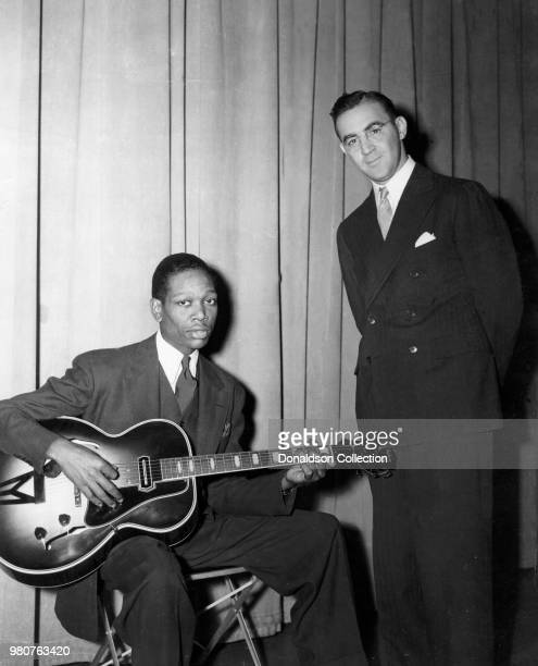 Guitarist Charlie Christian with band leader Benny Goodman in circa 1939 New York
