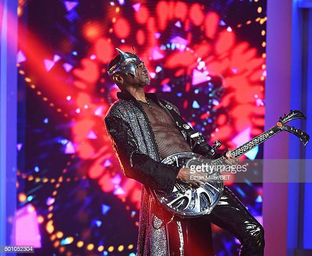 Guitarist Charlie Singleton of Cameo performs during the 2015 Soul Train Music Awards at the Orleans Arena on November 6 2015 in Las Vegas Nevada