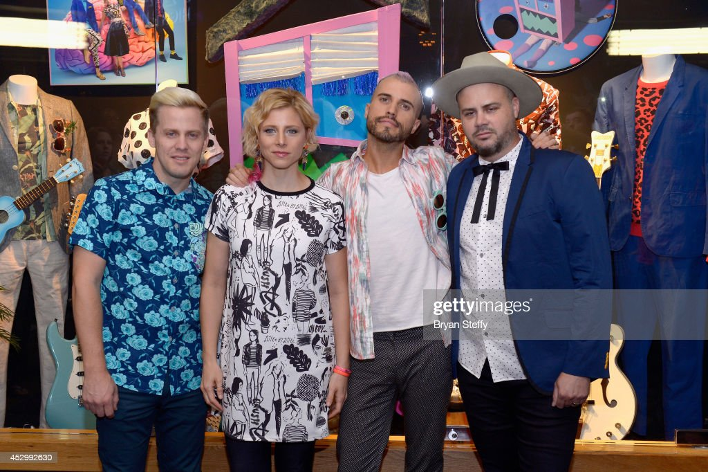 Neon Trees Memorabilia Case Dedication At The Hard Rock Hotel & Casino