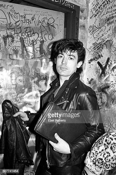 Guitarist Chris Spedding at a Nico show at CBGB's in New York City on February 19, 1979.