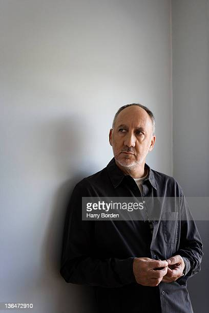 Guitarist composer and member of the rock band The Who Pete Townshend is photographed for the Observer on September 24 2006 in London England