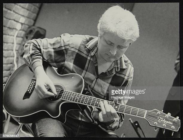 Guitarist Dave Cliff playing at The Fairway Welwyn Garden City Hertfordshire 28 April 1991 Artist Denis Williams