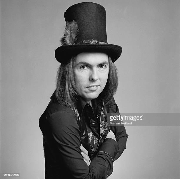 Guitarist Dave Hill of British rock group Slade 1981