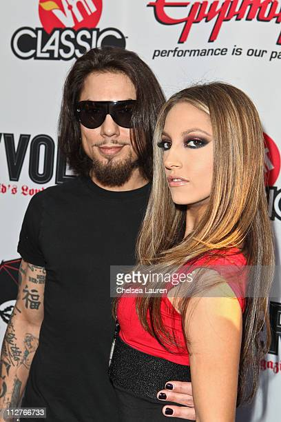 Guitarist Dave Navarro of Jane's Addiction and adult film star Jenna Haze arrive at the 3rd Annual Revolver Golden God Awards at Club Nokia on April...