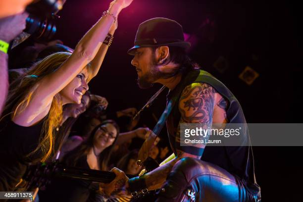 Guitarist Dave Navarro performs during the Camp Freddy holiday residency at The Roxy Theatre on December 21 2013 in West Hollywood California
