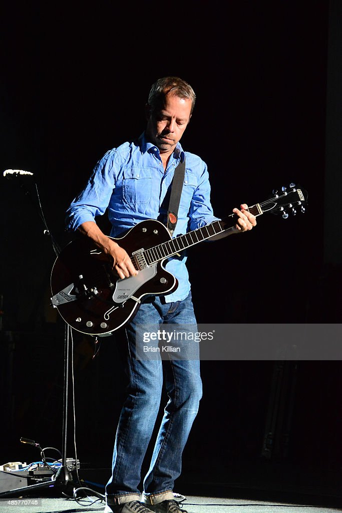 Guitarist David Bryson of the band Counting Crows performs at PNC Bank Arts Center on August 29, 2015 in Holmdel, New Jersey.