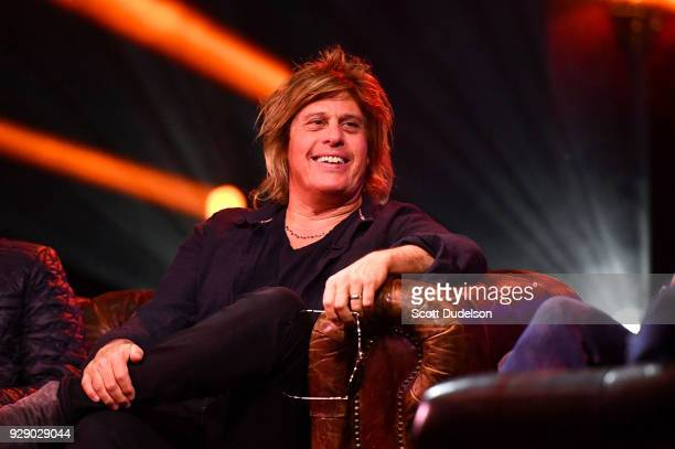 Guitarist Dean DeLeo founding member of Stone Temple Pilots attends a live taping of ATT AUDIENCE Network Music Series at Red Studios on March 7 2018...