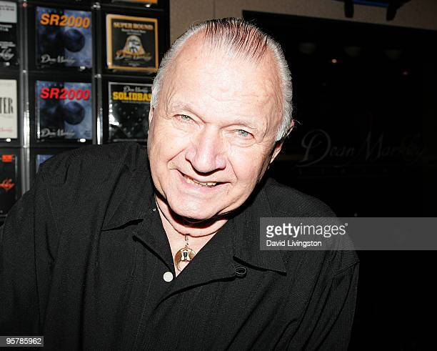 Guitarist Dick Dale attends the 2010 NAMM Show Day 1 at the Anaheim Convention Center on January 14 2010 in Anaheim California