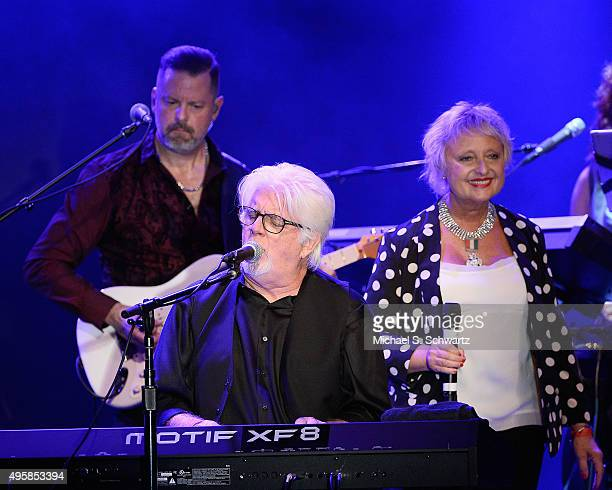 Guitarist Doug Jackson, Singer Michael McDonald and Singer Amy Holland McDonald perform during their appearance at the weSpark Cancer Support Center...