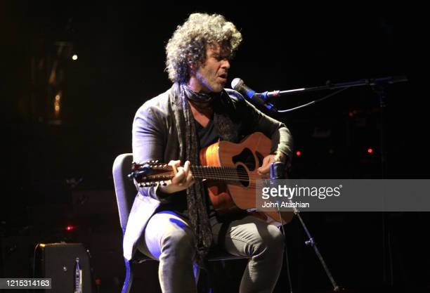 Guitarist Doyle Bramhall is shown performing on stage during a live concert stop on the Experience Hendrix tour on March 29 2014