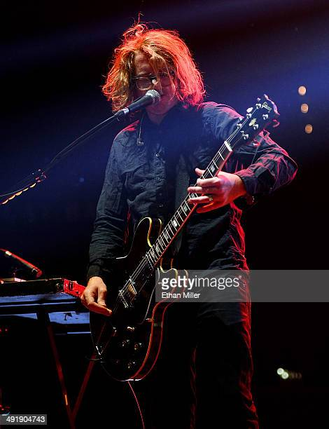 Guitarist Drew Brown of OneRepublic performs during Tiger Jam 2014 at the Mandalay Bay Events Center on May 17 2014 in Las Vegas Nevada