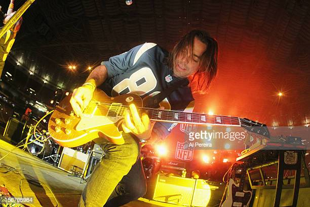 Guitarist Drew Shirley and Switchfoot perform at Edward Jones Dome on November 18, 2012 in St Louis, Missouri.