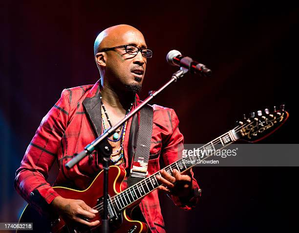 ALBUQUERQUE NM JULY 19 Guitarist Dwayne Wiggins of the soul/RB group Tony Toni Toné performs at Route 66 Casinos Legends Theater on JULY 19 2013 in...