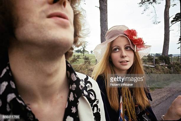 Guitarist Eric Clapton with his then girlfriend French model Charlotte Martin 1967