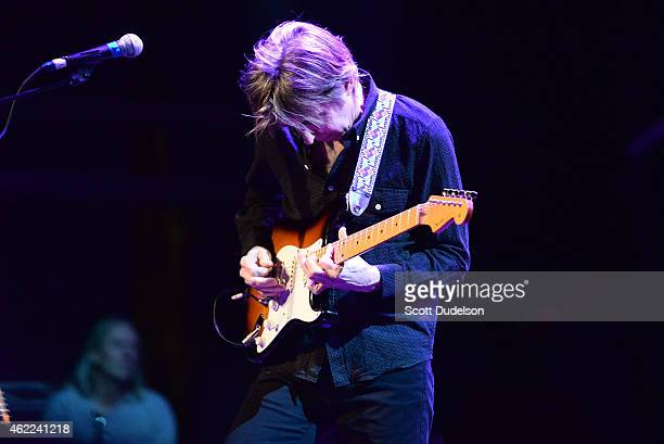 Guitarist Eric Johnson performs on stage at The Canyon Club on January 25 2015 in Agoura Hills California