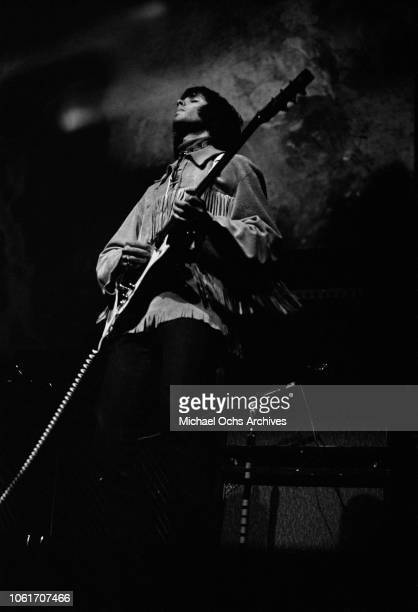 Guitarist Erik Brann of American rock band Iron Butterfly in concert circa 1967