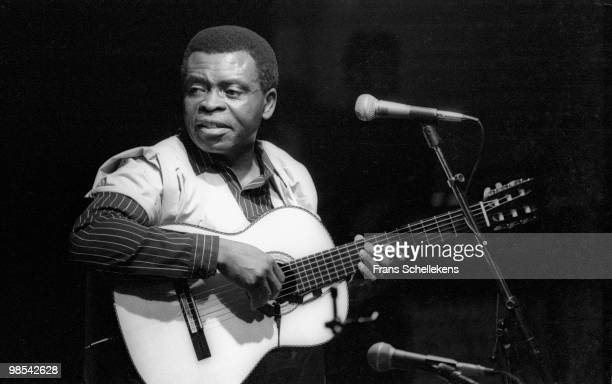 Guitarist Francis Bebey performs live on stage in Vredenburg, Utrecht, Holland on May 31 1986