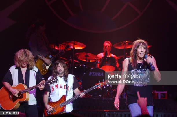 Guitarist Frank Hannon bassist Brian Wheat drummer Troy Luccketta and lead singer Jeff Keith of Tesla