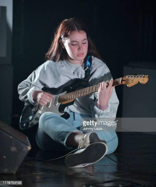 Guitarist Gabyy Montesde join Clairo on stage during Clairo Immunity Tour at Revolution Live on October 28 2019 in Fort Lauderdale Florida