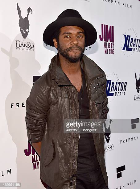 Guitarist Gary Clark Jr arrives to the Los Angeles premiere of Jimi All Is By My Side at ArcLight Cinemas on September 22 2014 in Hollywood California