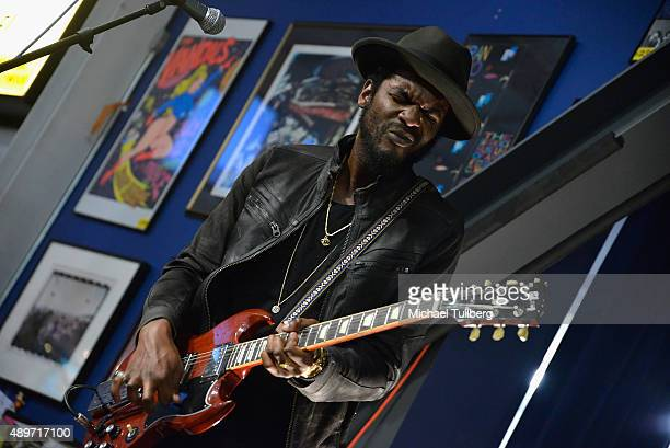 Guitarist Gary Clark Jr performs at Amoeba Music on September 23 2015 in Hollywood California