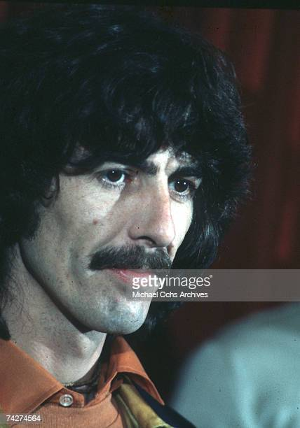 Guitarist George Harrison fomerly of the rock and roll band 'The Beatles' attends an event in March 1982 in Los Angeles California