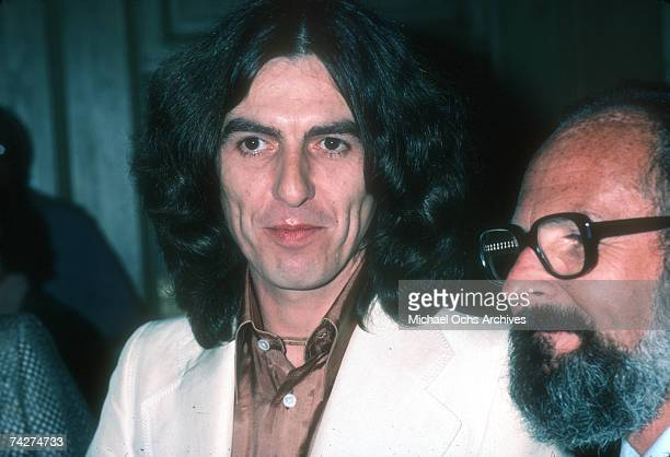 Guitarist George Harrison formerly of the rock and roll band 'The Beatles' attends an event in circa 1978