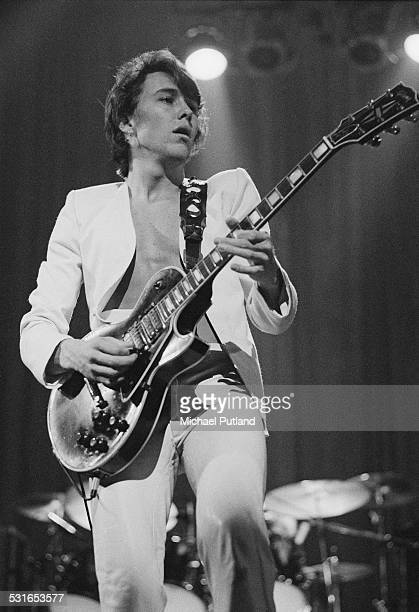 Guitarist George Kooymans performing with Dutch rock group Golden Earring at the Rainbow Theatre London 23rd November 1974