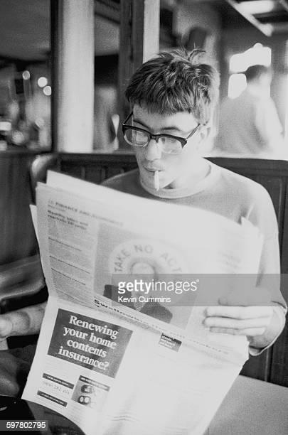 Guitarist Graham Coxon of English pop group Blur at The Good Mixer pub Camden London 22nd August 1995