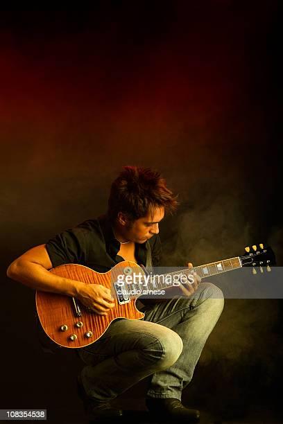 Guitarist in Concert. Color Image