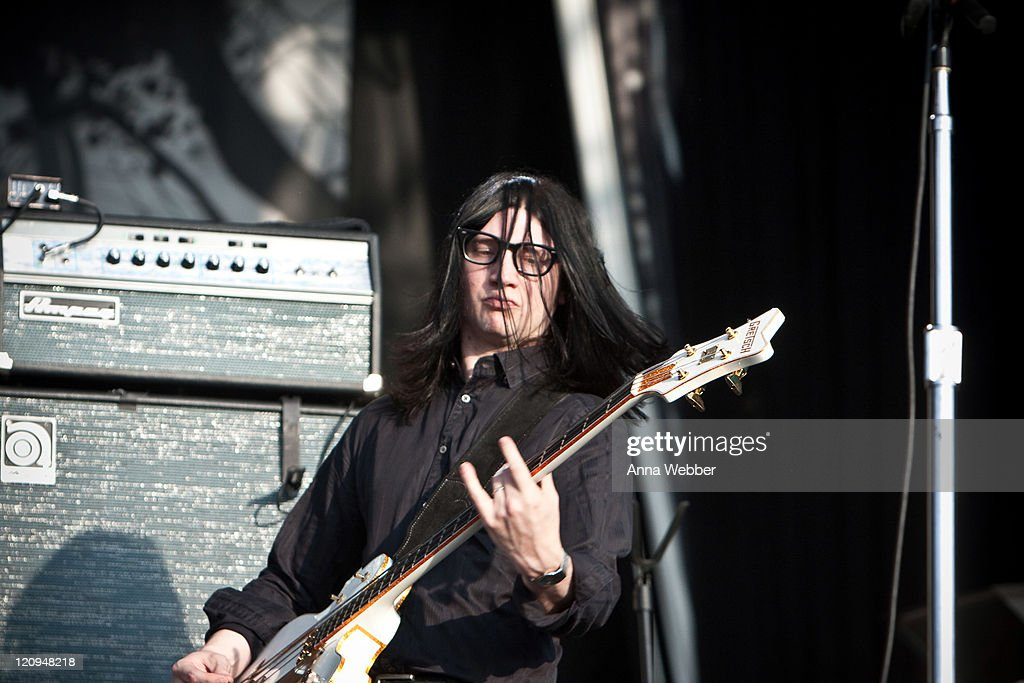 Guitarist Jack Lawrence of the Dead Weather performs on day 3 of the Austin City Limits Music Festival at Zilker Park on October 4, 2009 in Austin, Texas.