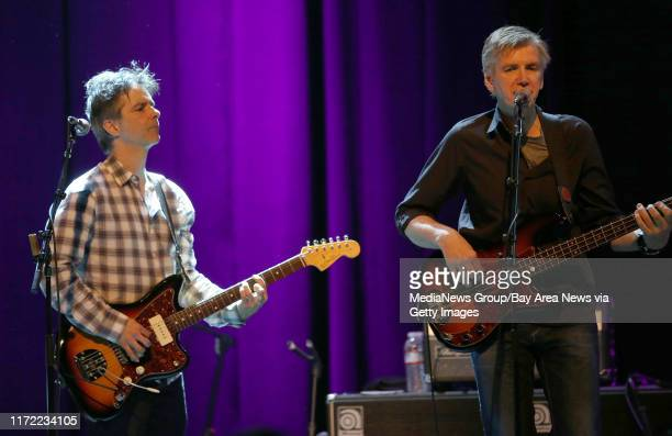 Guitarist Jack Petruzzelli and bassist Tony Shanahan perform with Patti Smith during a soldout show at The Fillmore in San Francisco Calif on...