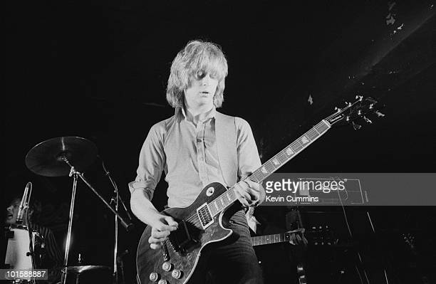 Guitarist James Honeyman-Scott of The Pretenders performs on stage at Eric's in Liverpool, England in March 1979.