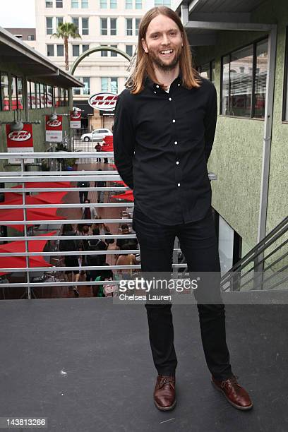 Guitarist James Valentine of Maroon 5 attends the MI conversation series at Musicians Institute Concert Hall on May 3 2012 in Los Angeles California