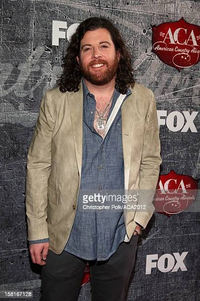 Guitarist James Young of the Eli Young Band arrives at the 2012 American Country Awards at the Mandalay Bay Events Center on December 10 2012 in Las...