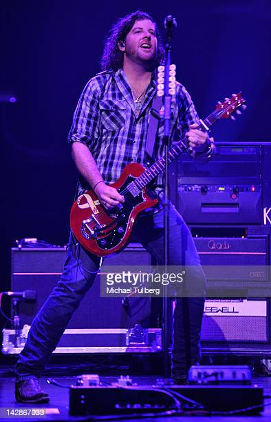 Guitarist James Young of the Eli Young Band performs live at Nokia Theatre LA Live on April 13 2012 in Los Angeles California