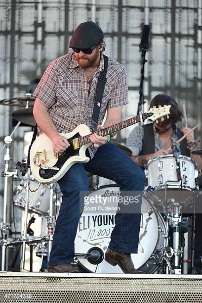 Guitarist James Young of the Eli Young Band performs onstage during day 2 of the Stagecoach Music Festival at The Empire Polo Club on April 25 2015...