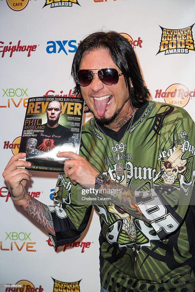 Guitarist Jason Hook of Five Finger Death Punch attends the Revolver Golden Gods Awards press conference at Hard Rock Cafe - Hollywood on January 30, 2013 in Hollywood, California.