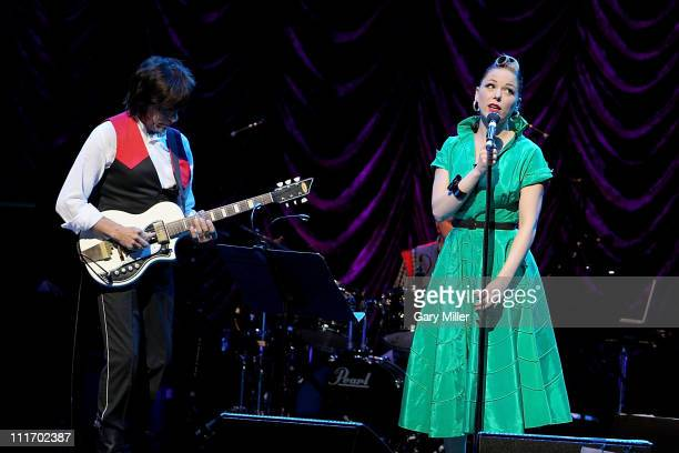 Guitarist Jeff Beck and vocalist Imelda May perform in concert at ACL Live on April 5 2011 in Austin Texas