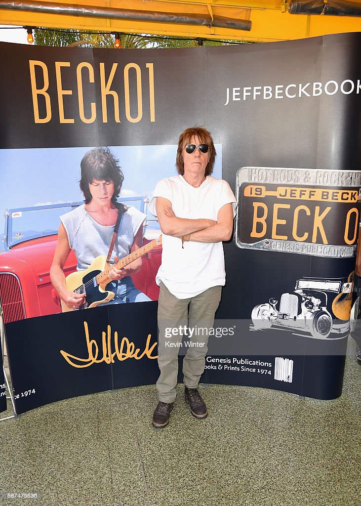 Guitarist Jeff Beck greets fans in celebration of new book 'BECK01' at Mel's Dinner on August 8, 2016 in West Hollywood, California.