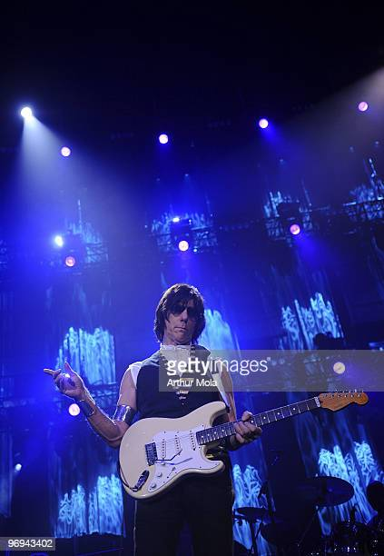 Guitarist Jeff Beck performs at Air Canada Centre on February 21 2010 in Toronto Canada