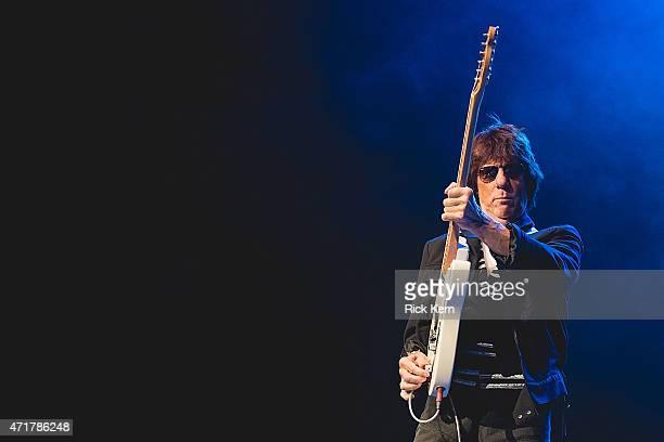 Guitarist Jeff Beck performs in concert at Cedar Park Center on April 30 2015 in Cedar Park Texas